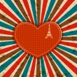 Retro Love Background — 图库矢量图片
