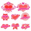 Love Sticker — Stock Vector