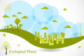 Eco Planet — Stock Vector