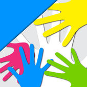 Vector Colorful Hands — Stock Vector