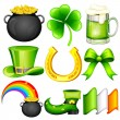 Saint Patrick's Day Object — Stock Vector