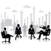 Business People in a Meeting — Stock Vector