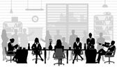 Business people during a meeting — Stock Vector
