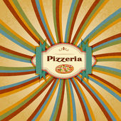 Pizza Menu — Stock Vector