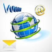 International e-mailing — Stock Vector