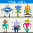 Pixel Robot — Stock Vector
