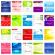 Business Card Collection — Stock Vector