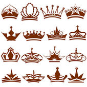 Crown icon Collection — Stock Vector
