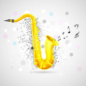 Abstract Music Background with Saxophone — Stock Vector