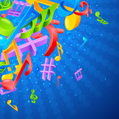 Music Notes Background — Stock Vector