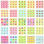 Naadloze verjaardag patroon — Stockvector