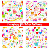 Seamless Birthday Pattern — ストックベクタ