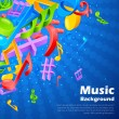 Stock Vector: Music Notes Background
