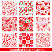 Seamless Love Pattern Background — Stok Vektör