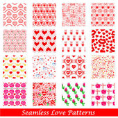 Seamless Love Pattern Background — Vector de stock