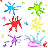 Colorful Holi Splash — Stock Vector