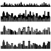 Cityscape with Skyscraper Building — Stock Vector