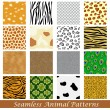 Stock Vector: Animal Skin Seamless Pattern