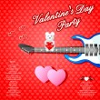 Musical Valentine's Day background — Stock Vector