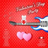 Musical Valentine's Day background — Stock vektor
