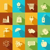 Ikona środowiska płaski — Wektor stockowy