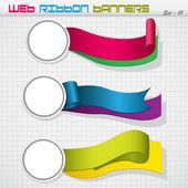 Colorful Paper Label — Vector de stock
