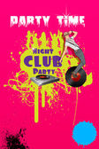 Club Party Poster — Stock Vector