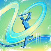 Cricket Batsman — Stock Vector