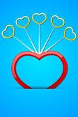 Glossy Heart — Stockvector