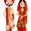 Sikh Wedding Couple — Stock Vector #41663379