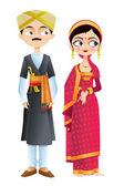 Wedding Couple of Karnataka — Stock Vector