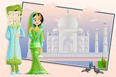 Muslim Wedding Couple — Stock Vector