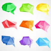 Origami Chat Bubble — 图库矢量图片