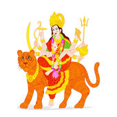Goddess Durga — Vetorial Stock