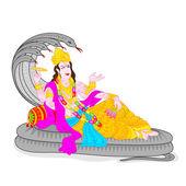 Lord Vishnu — Stock Vector