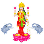 Goddess Lakshmi — Vetorial Stock