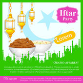 Iftar Party background — Stock Vector