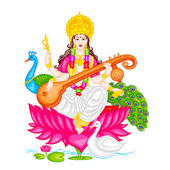 Goddess Saraswati — Vetorial Stock