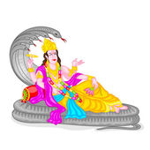 Lord Vishnu — Stock Vector