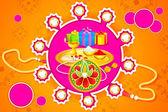 Raksha bandhan celebración — Vector de stock