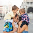 Family portrait in Venice — Stock Photo