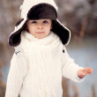 Winter Portrait of a boy — Stock Photo