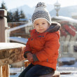 Winter portrait of boy with hat — Stock Photo #32467013