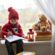 Boy, writing letter to Santa — Stock Photo #36813601