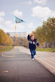 Boy with kite — Stock Photo