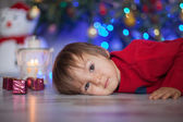 Little boy on christmas — Stock Photo
