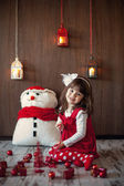 Little girl on christmas — 图库照片