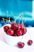 Cherry in a bowl — Stock Photo