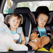 Two boys in car seats, travelling — Stock Photo #49313553
