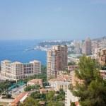 Monaco Montecarlo cityscape, principality aerial view — Stock Photo #49314573